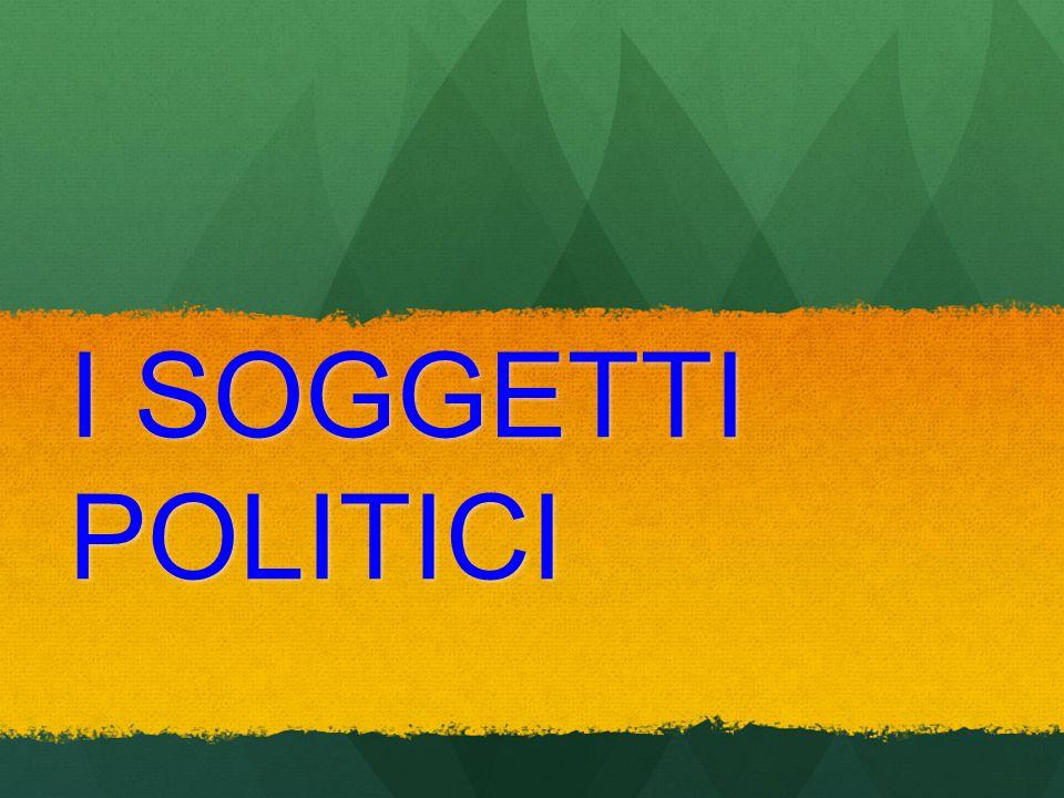 I SOGGETTI POLITICI