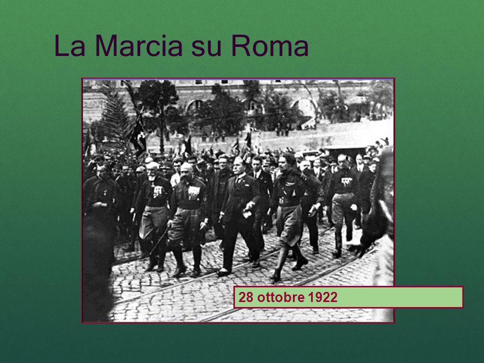 La Marcia su Roma 28 ottobre 1922