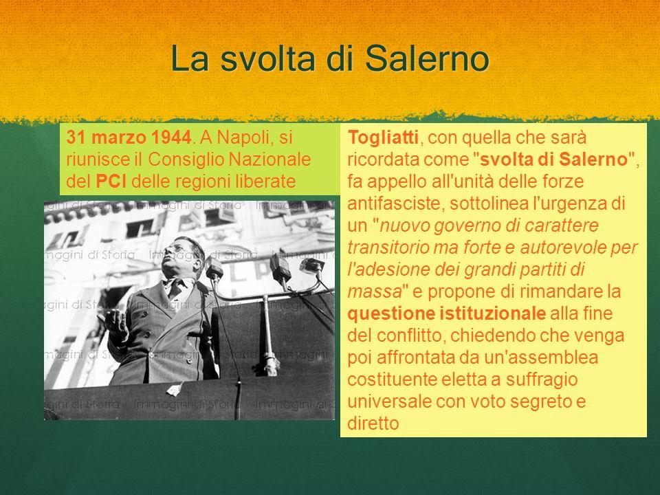 La svolta di Salerno Togliatti, con quella che sarà ricordata come
