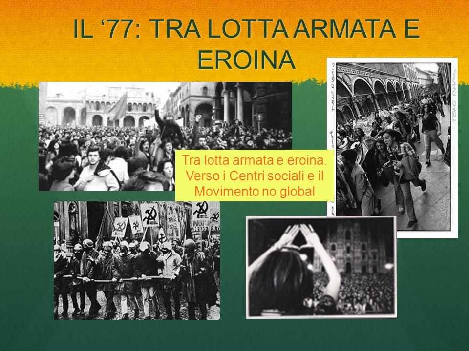 IL 77: TRA LOTTA ARMATA E EROINA Tra lotta armata e eroina. Verso i Centri sociali e il Movimento no global