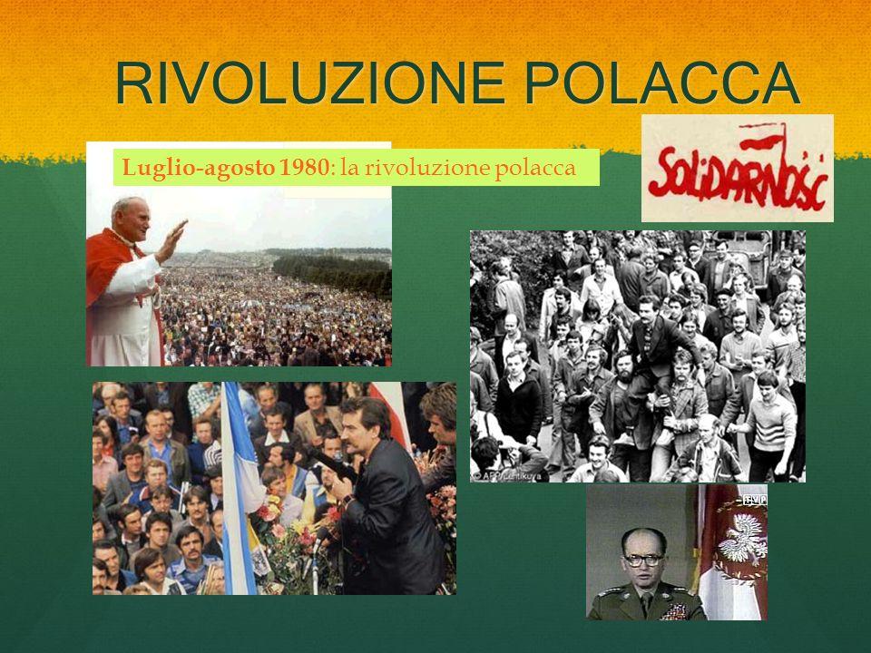 RIVOLUZIONE POLACCA Luglio-agosto 1980 : la rivoluzione polacca
