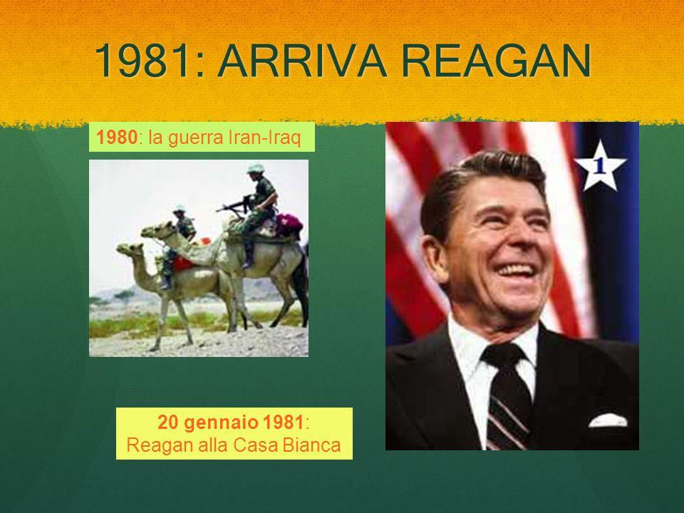 1981: ARRIVA REAGAN 1980: la guerra Iran-Iraq 20 gennaio 1981: Reagan alla Casa Bianca