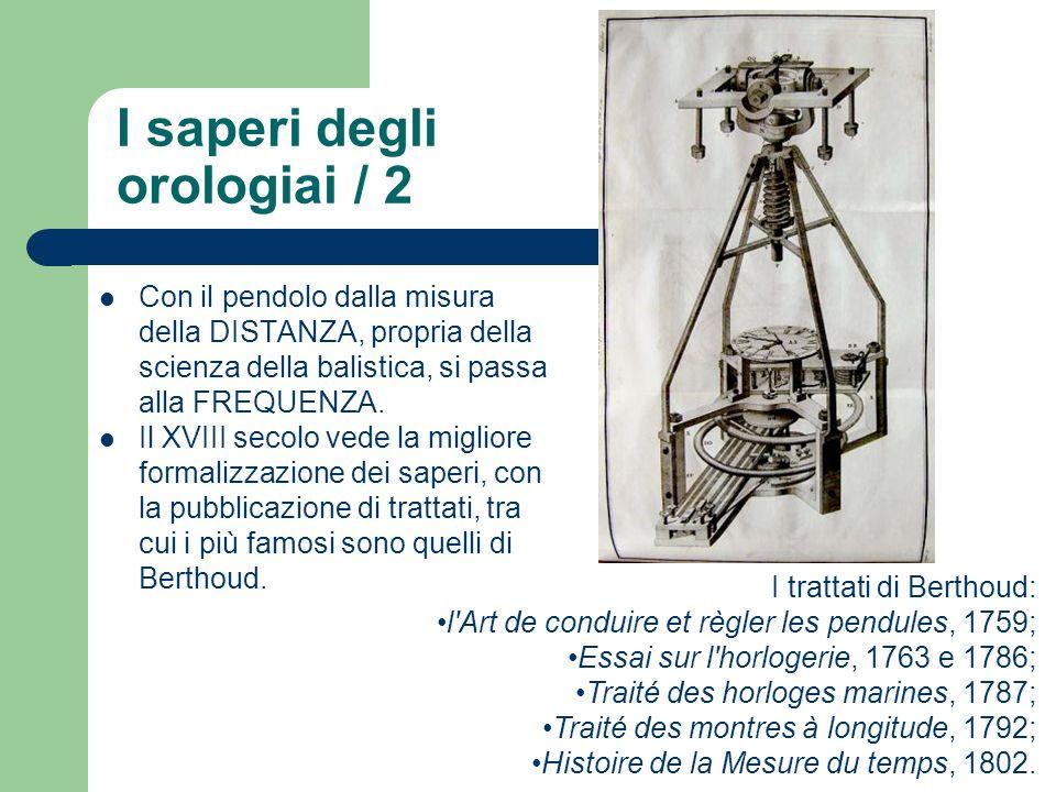 Con il pendolo dalla misura della DISTANZA, propria della scienza della balistica, si passa alla FREQUENZA. Il XVIII secolo vede la migliore formalizz