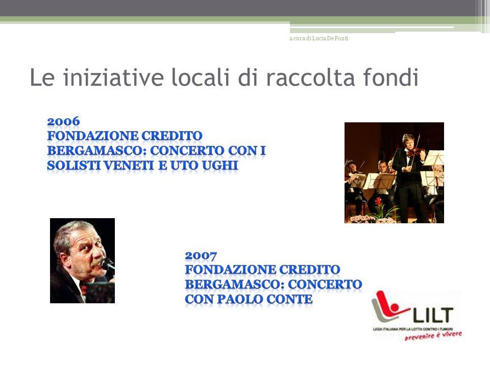 Le iniziative locali di raccolta fondi a cura di Lucia De Ponti