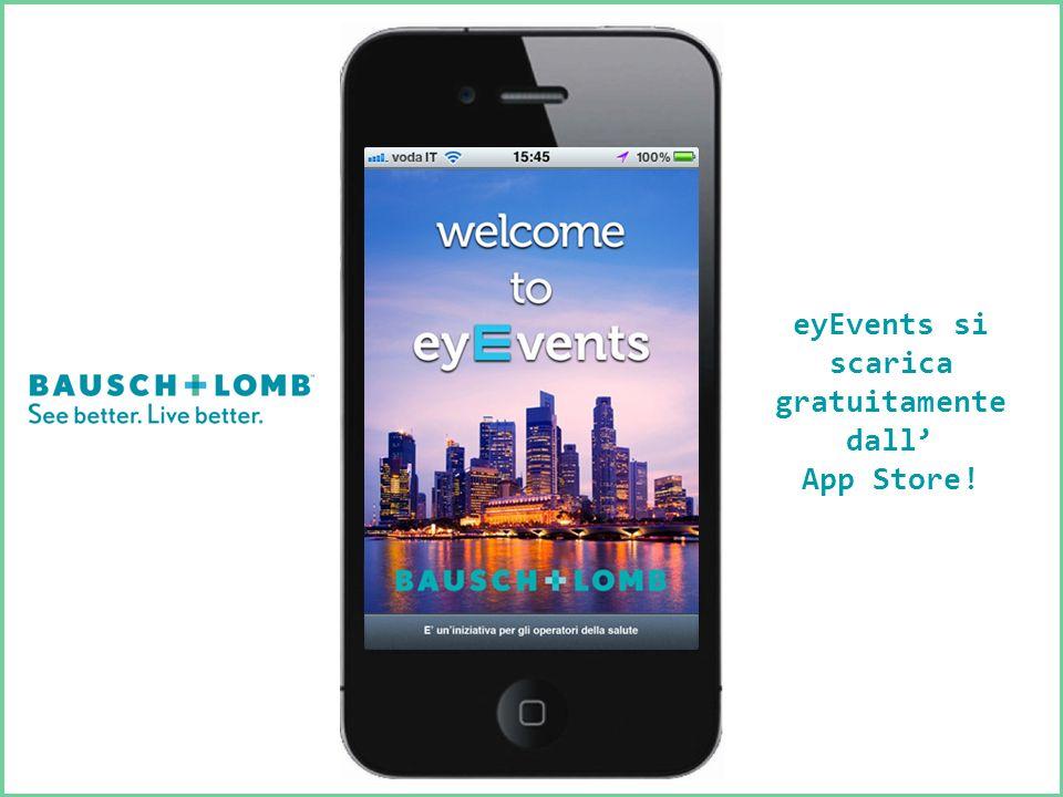 eyEvents si scarica gratuitamente dall App Store!