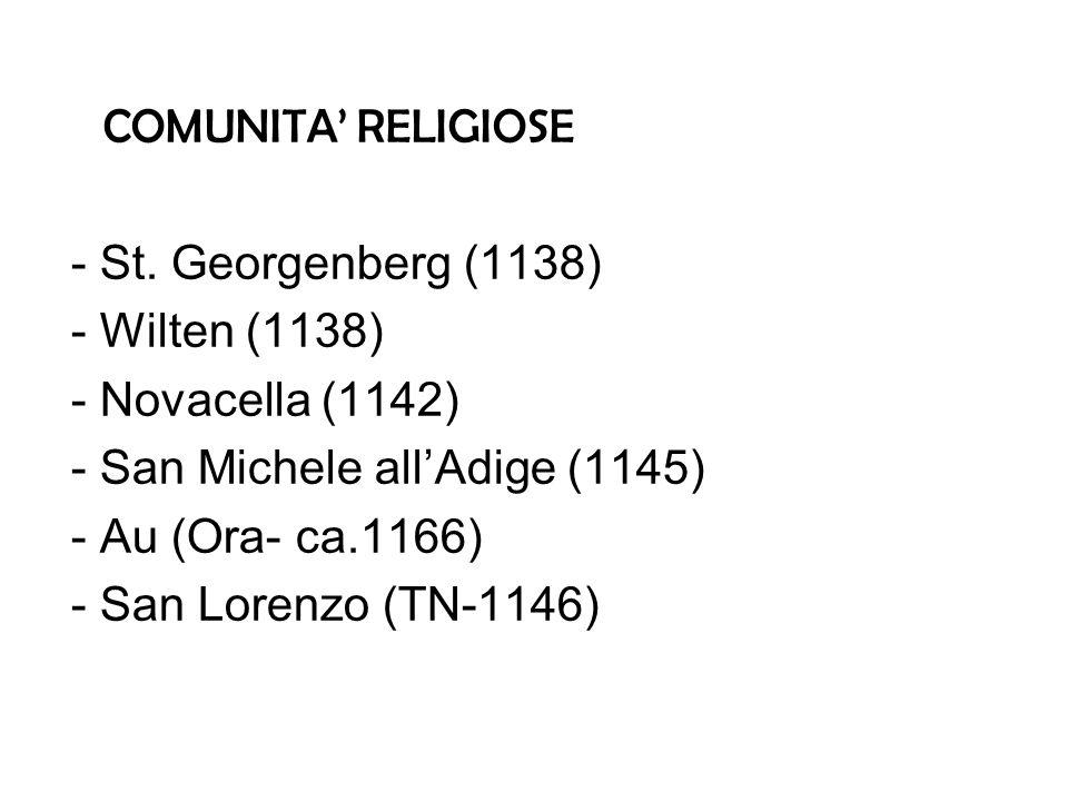COMUNITA RELIGIOSE - St.