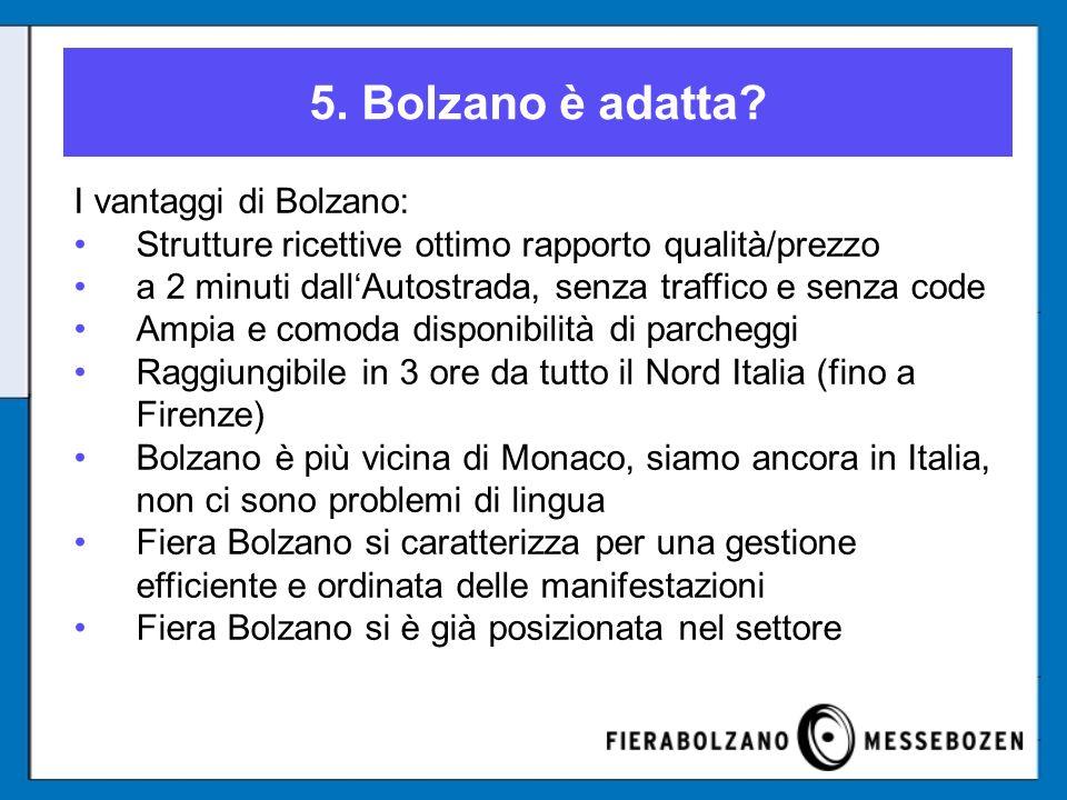 5. Bolzano è adatta.