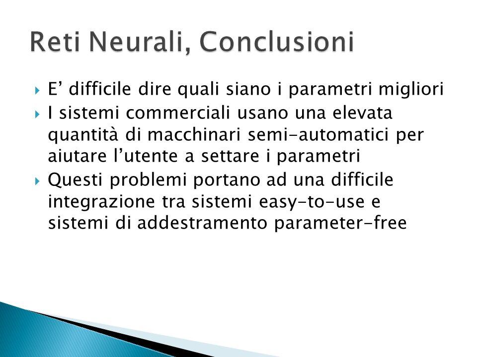 Quando ci sono pochi neuroni Lesattezza della risposta si ha solo in un numero ristretto di dati in input