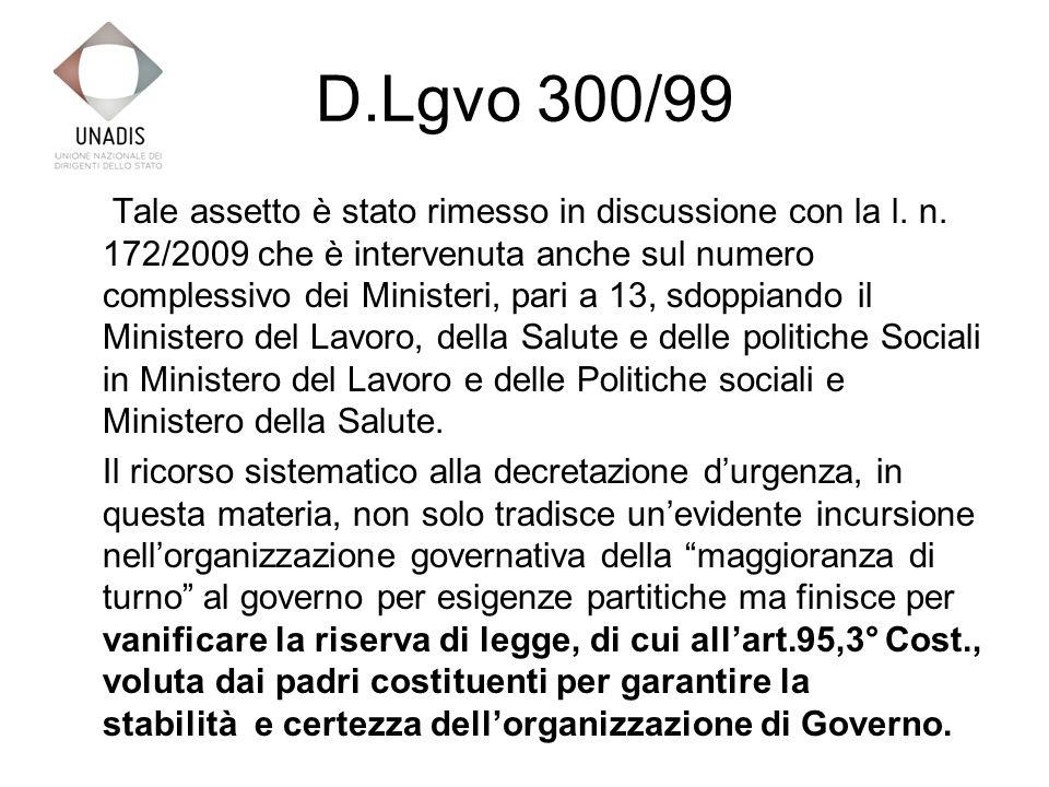 Organigramma – Ministero dello Sviluppo Economico
