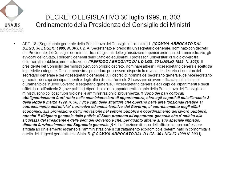 DECRETO LEGISLATIVO 30 luglio 1999, n.