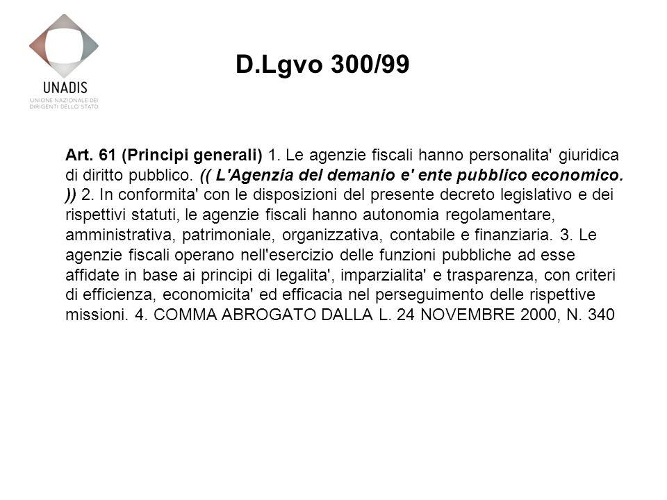 Art. 61 (Principi generali) 1.