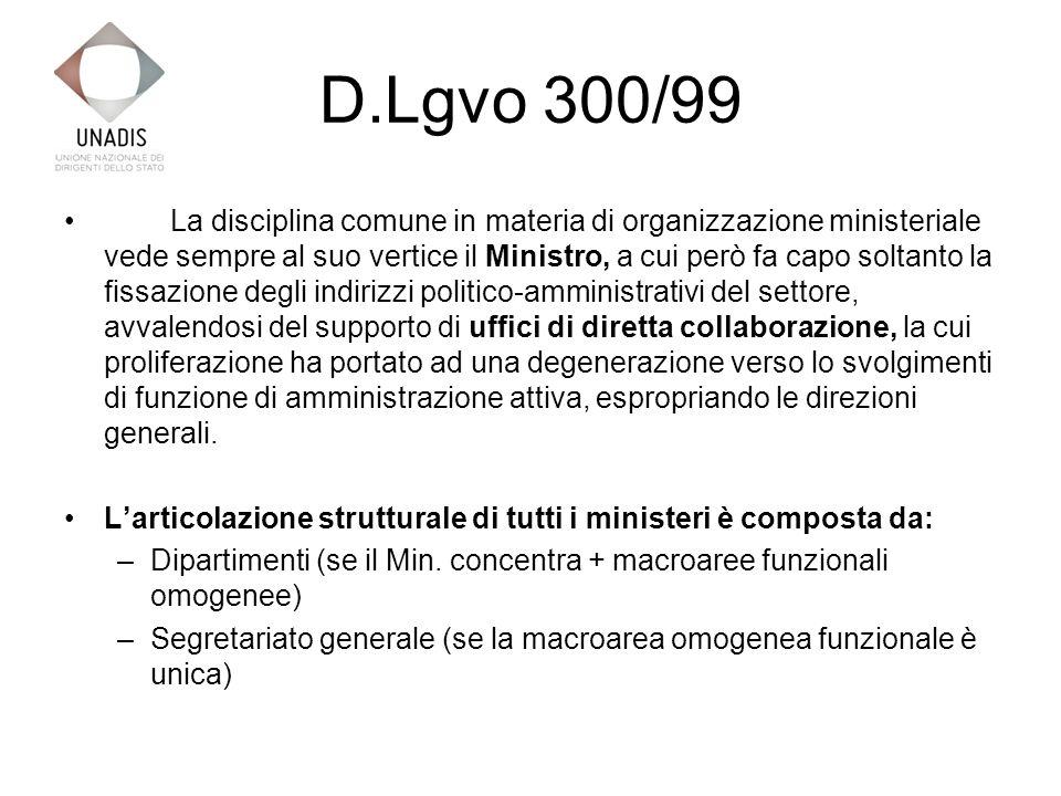 D.Lgvo 300/99 Art.2 (Ministeri) 1.
