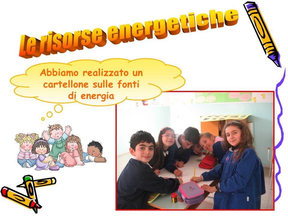 Abbiamo realizzato un cartellone sulle fonti di energia