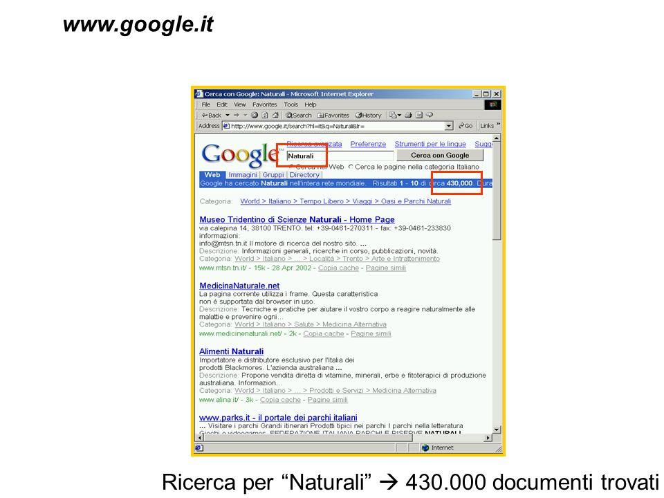 Ricerca per Naturali 430.000 documenti trovati