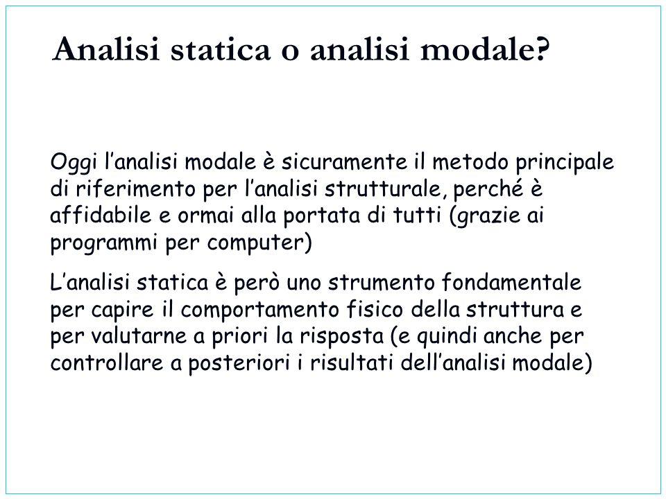 Oggi lanalisi modale è sicuramente il metodo principale di riferimento per lanalisi strutturale, perché è affidabile e ormai alla portata di tutti (gr