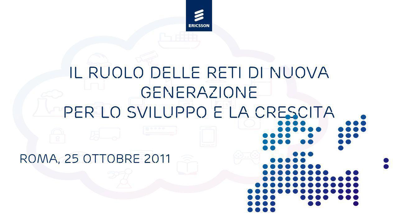 Slide title minimum 48 pt Slide subtitle minimum 30 pt Il ruolo delle reti di nuova generazione per lo sviluppo e la crescita Roma, 25 ottobre 2011
