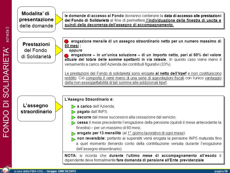 FONDO DI SOLIDARIETA scheda 3 Modalita di presentazione delle domande data di accessoalle prestazioni del Fondo di Solidarietà le domande di accesso a