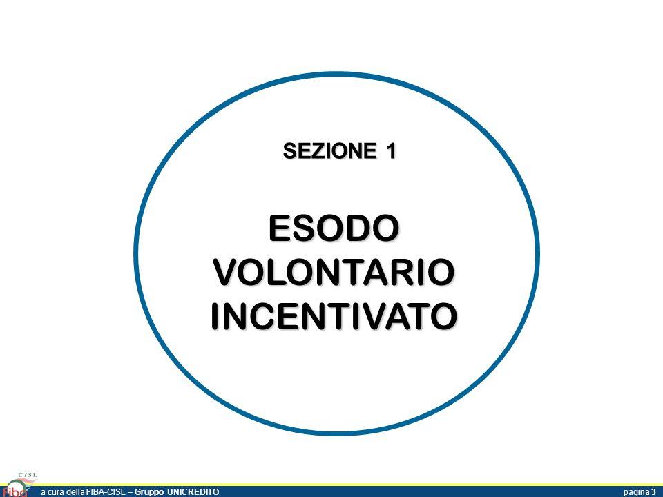 ESODO VOLONTARIO INCENTIVATO SEZIONE 1 a cura della FIBA-CISL – Gruppo UNICREDITOpagina 3