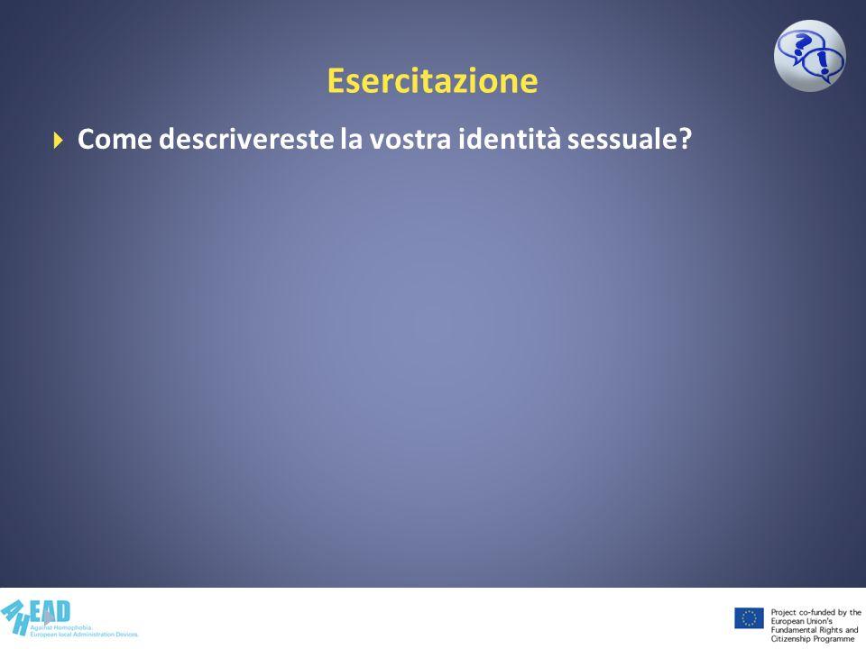 Esercitazione L orientamento sessuale... lo scegliamo?