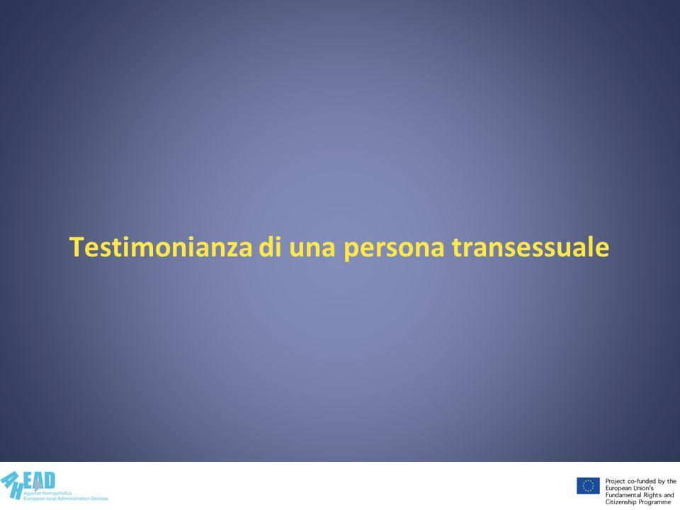 Testimonianza di una persona transessuale
