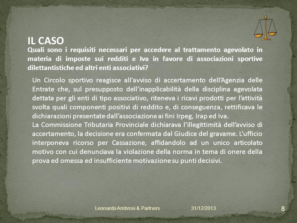 IL CASO Quali sono i requisiti necessari per accedere al trattamento agevolato in materia di imposte sui redditi e Iva in favore di associazioni sportive dilettantistiche ed altri enti associativi.