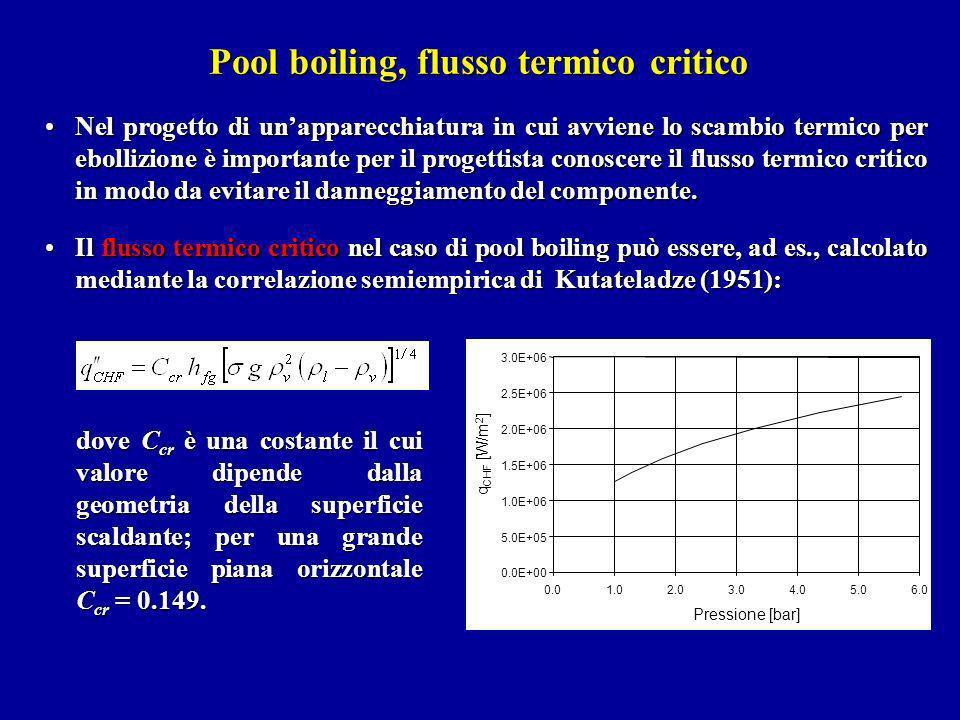 Nel progetto di unapparecchiatura in cui avviene lo scambio termico per ebollizione è importante per il progettista conoscere il flusso termico critic