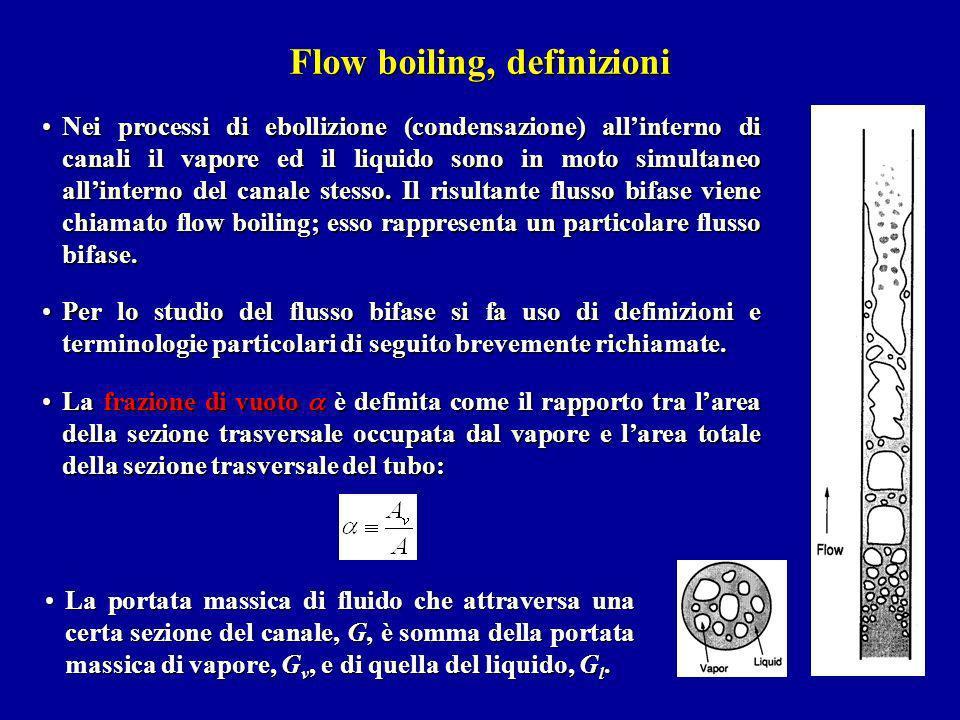 Nei processi di ebollizione (condensazione) allinterno di canali il vapore ed il liquido sono in moto simultaneo allinterno del canale stesso. Il risu