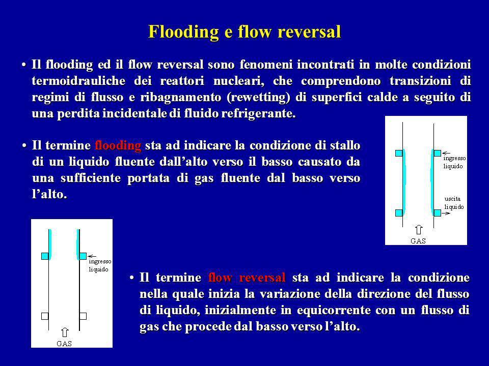 Il flooding ed il flow reversal sono fenomeni incontrati in molte condizioni termoidrauliche dei reattori nucleari, che comprendono transizioni di reg