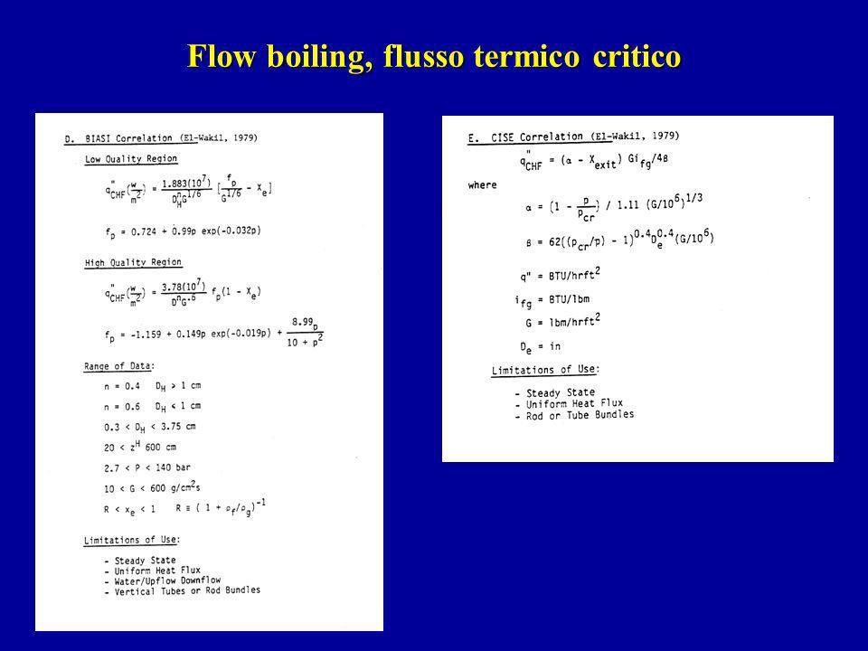 Flow boiling, flusso termico critico