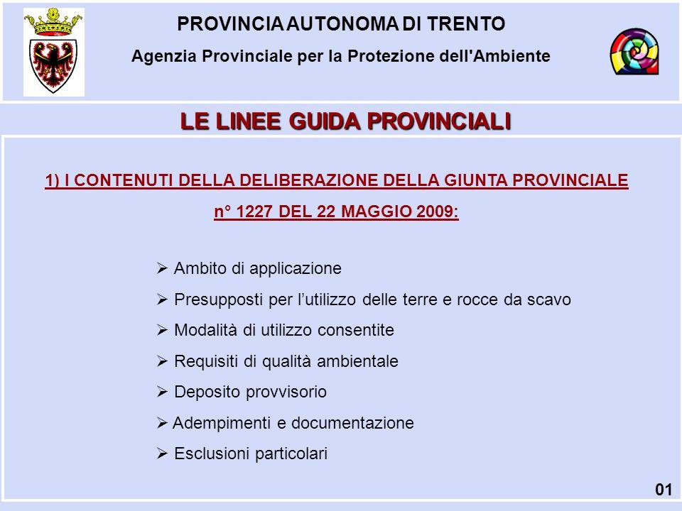 PROVINCIA AUTONOMA DI TRENTO Agenzia Provinciale per la Protezione dell Ambiente GESTIONE DEI RIFIUTI 22 Procedura ORDINARIA Procedura SEMPLIFICATA Art.