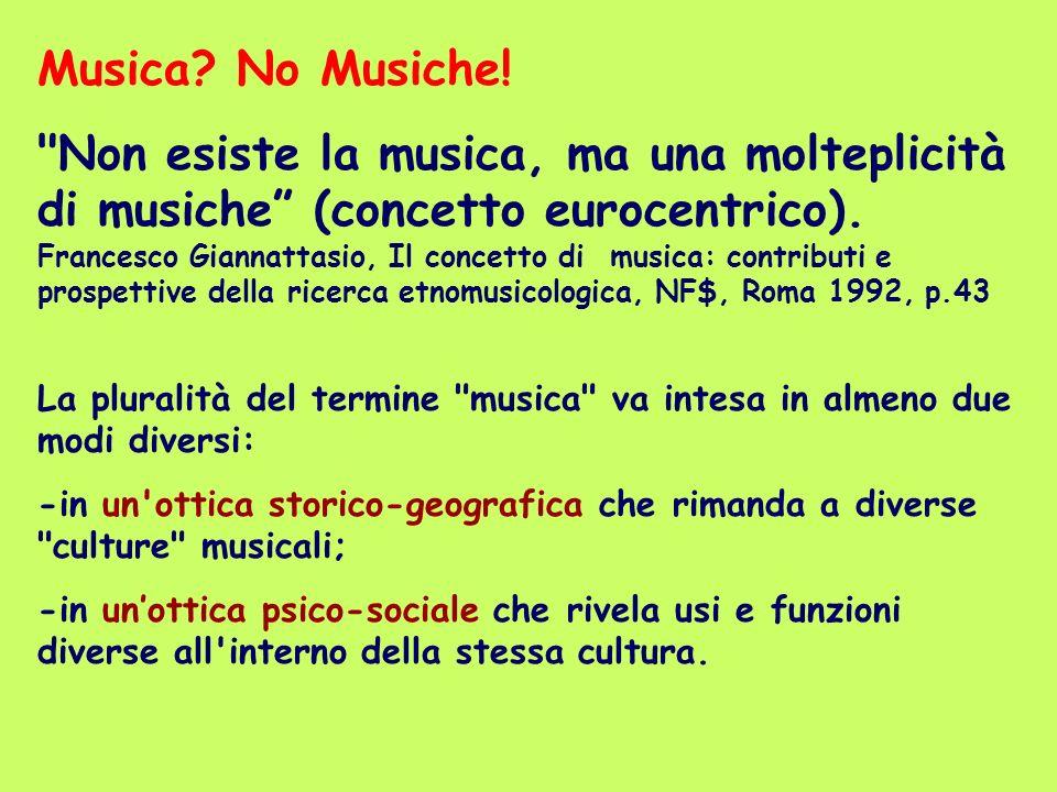 Musica? No Musiche!