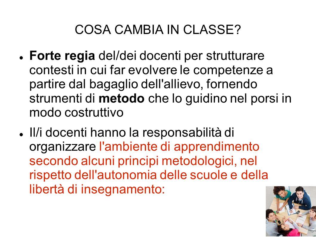 COSA CAMBIA IN CLASSE.