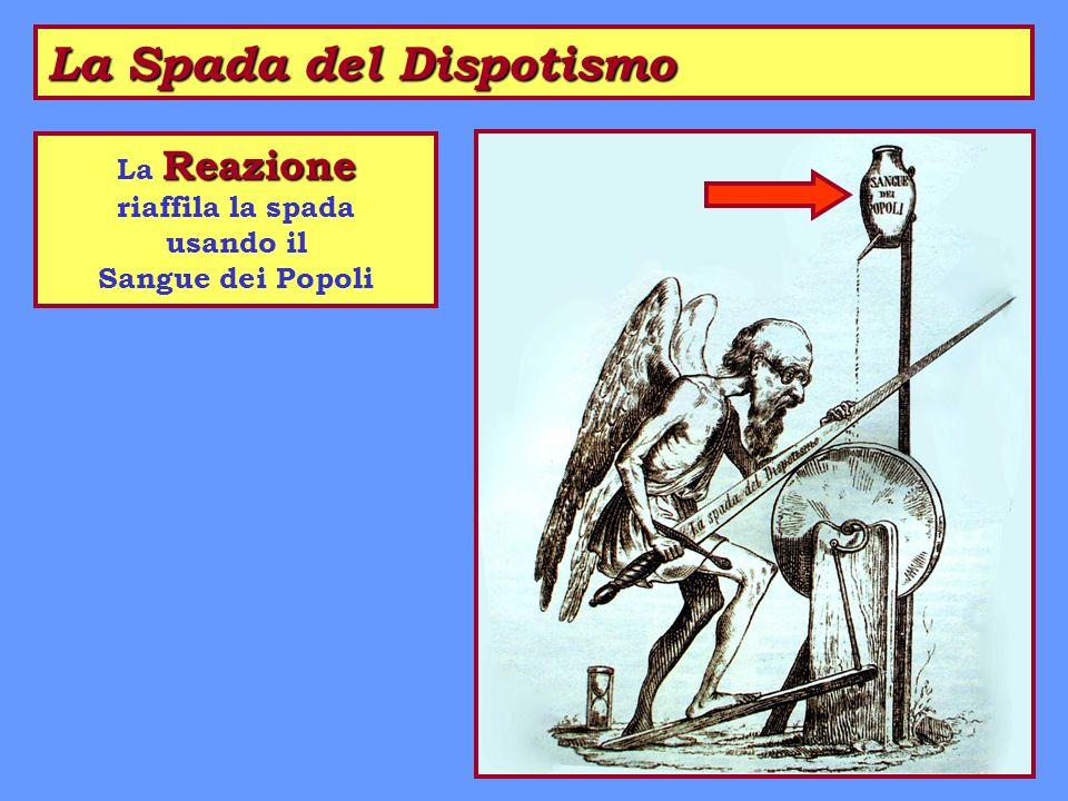 La Spada del Dispotismo Reazione La Reazione riaffila la spada usando il Sangue dei Popoli
