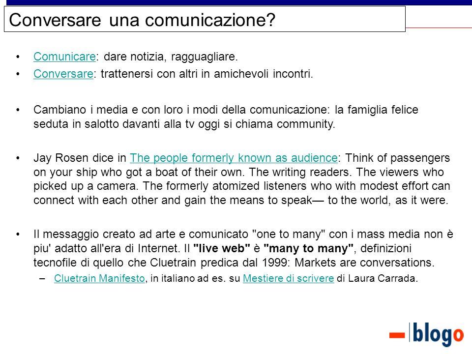 Conversare una comunicazione.