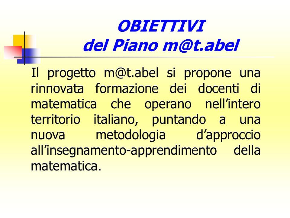 il miglioramento dellinsegnamento della matematica nella scuola italiana, anche al fine di ovviare ai deficit rilevati dallindagine OCSE-PISA nelle competenze matematiche dei nostri allievi.