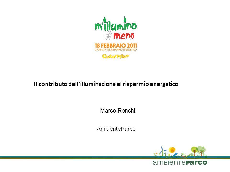 AmbienteParco Il contributo dellilluminazione al risparmio energetico Marco Ronchi