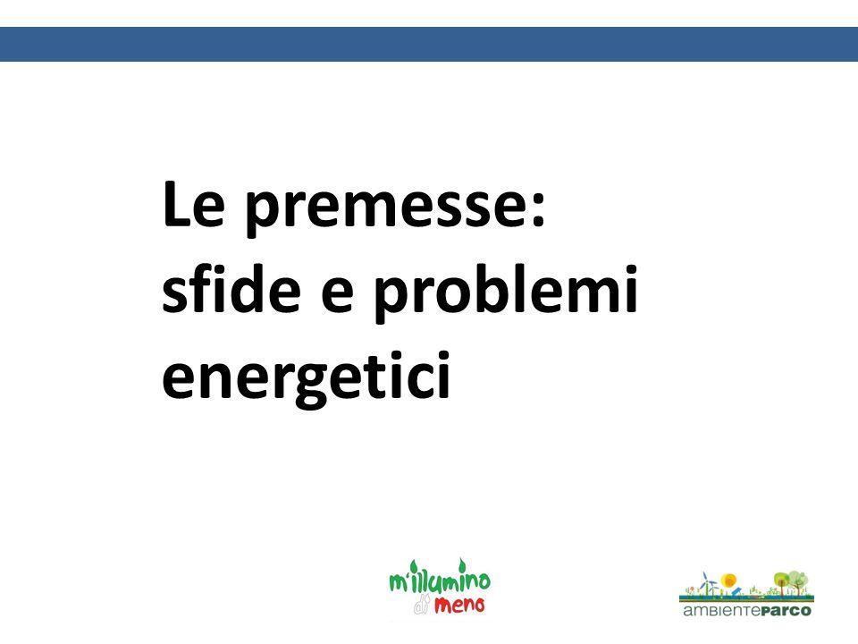 Le premesse: sfide e problemi energetici