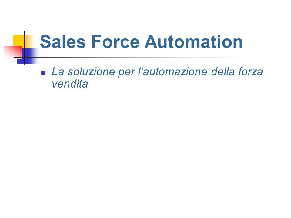 Sales Force Automation La soluzione per lautomazione della forza vendita