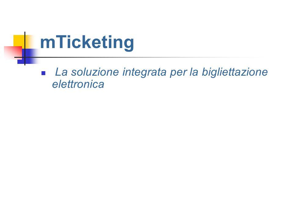 mTicketing La soluzione integrata per la bigliettazione elettronica