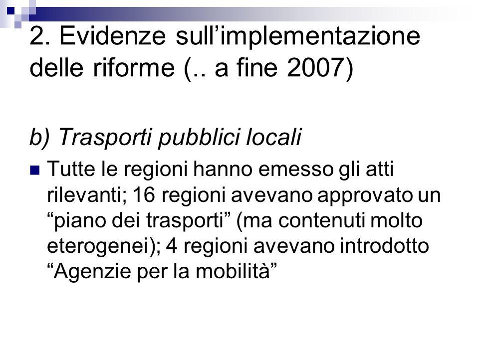2. Evidenze sullimplementazione delle riforme (..