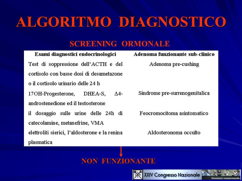 ALGORITMO DIAGNOSTICO SCREENING ORMONALE NON FUNZIONANTE se
