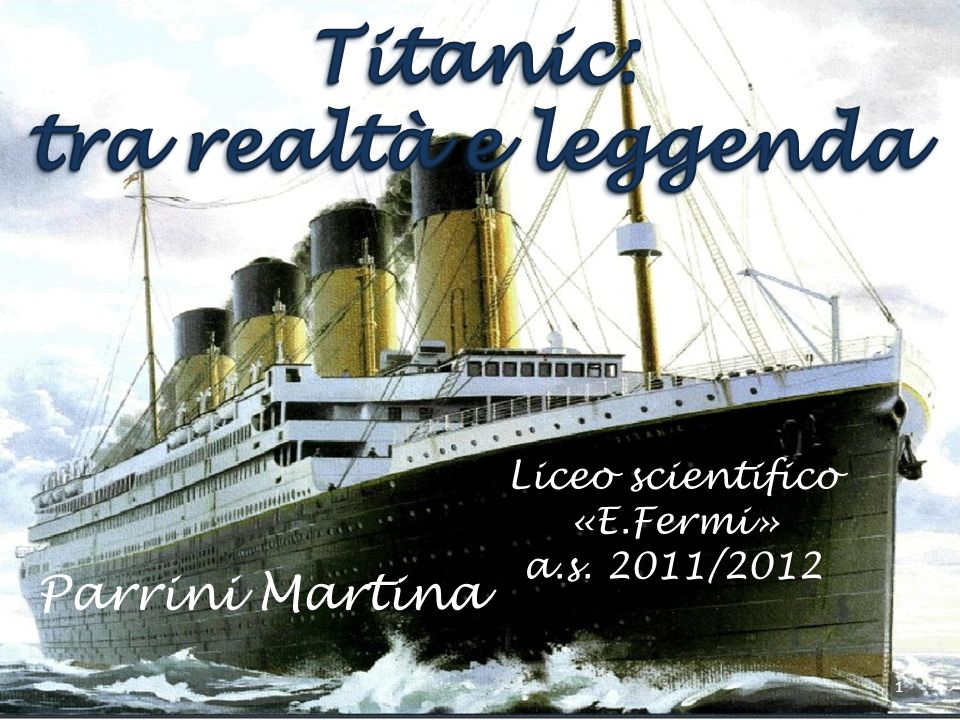 Parrini Martina Liceo scientifico «E.Fermi» a.s. 2011/2012 1