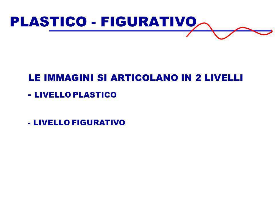 PLASTICO - FIGURATIVO LE IMMAGINI SI ARTICOLANO IN 2 LIVELLI - LIVELLO PLASTICO - LIVELLO FIGURATIVO