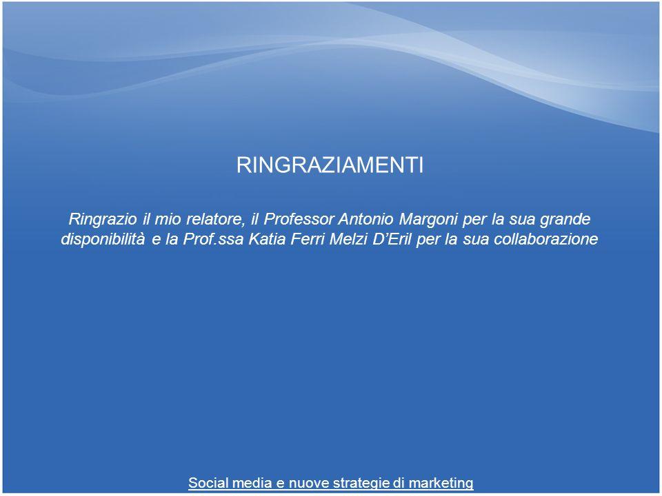RINGRAZIAMENTI Ringrazio il mio relatore, il Professor Antonio Margoni per la sua grande disponibilità e la Prof.ssa Katia Ferri Melzi DEril per la su