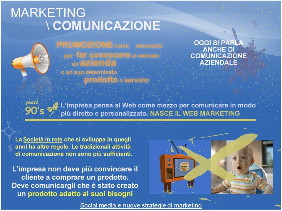 Social media e nuove strategie di marketing MARKETING \ COMUNICAZIONE