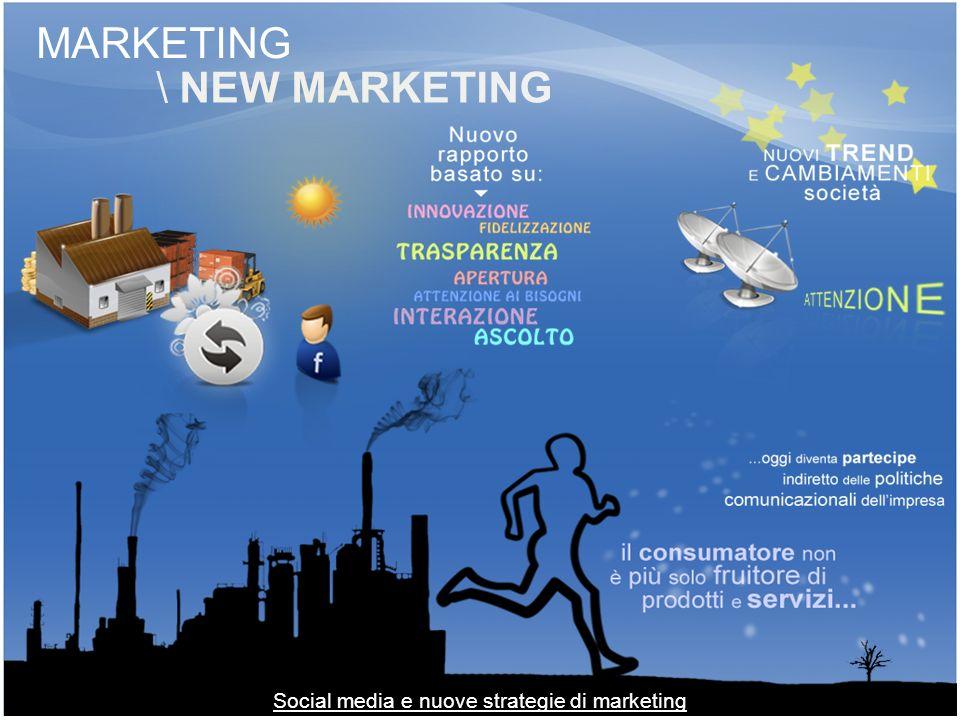 MARKETING \ NEW MARKETING Social media e nuove strategie di marketing