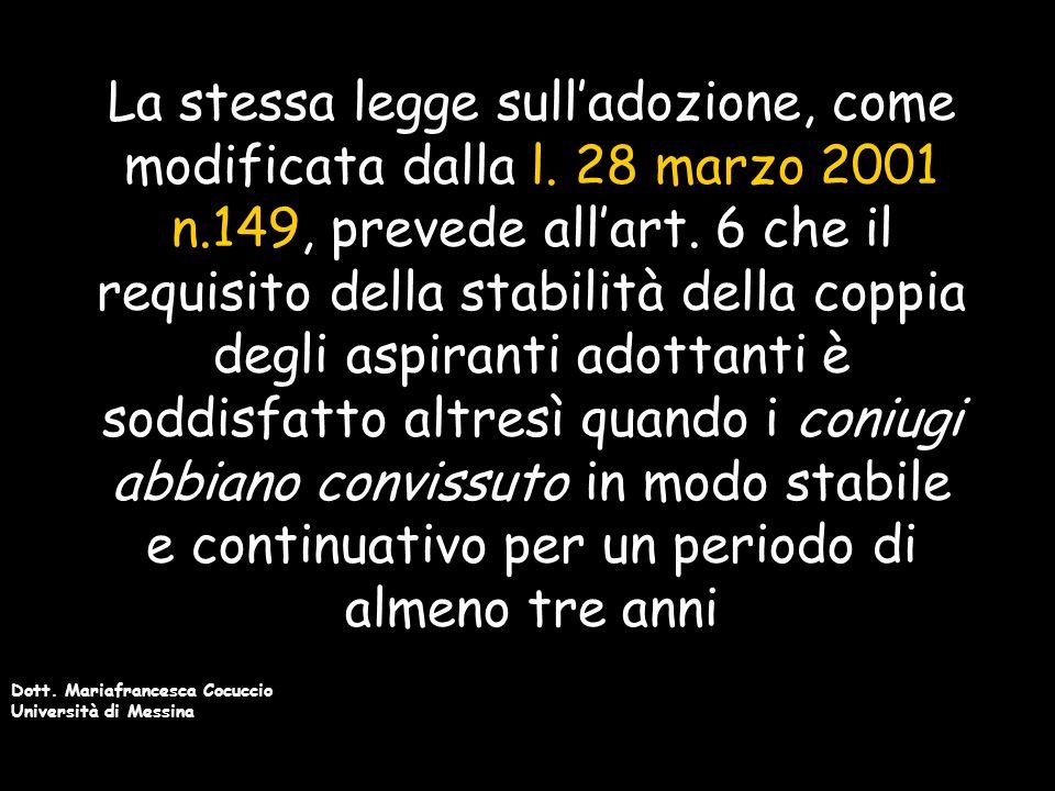 Dott.Mariafrancesca Cocuccio Università di Messina La l.