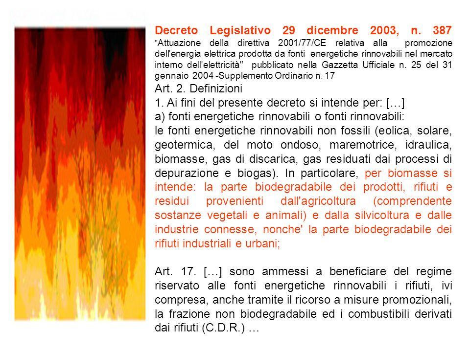 Decreto Legislativo 29 dicembre 2003, n. 387