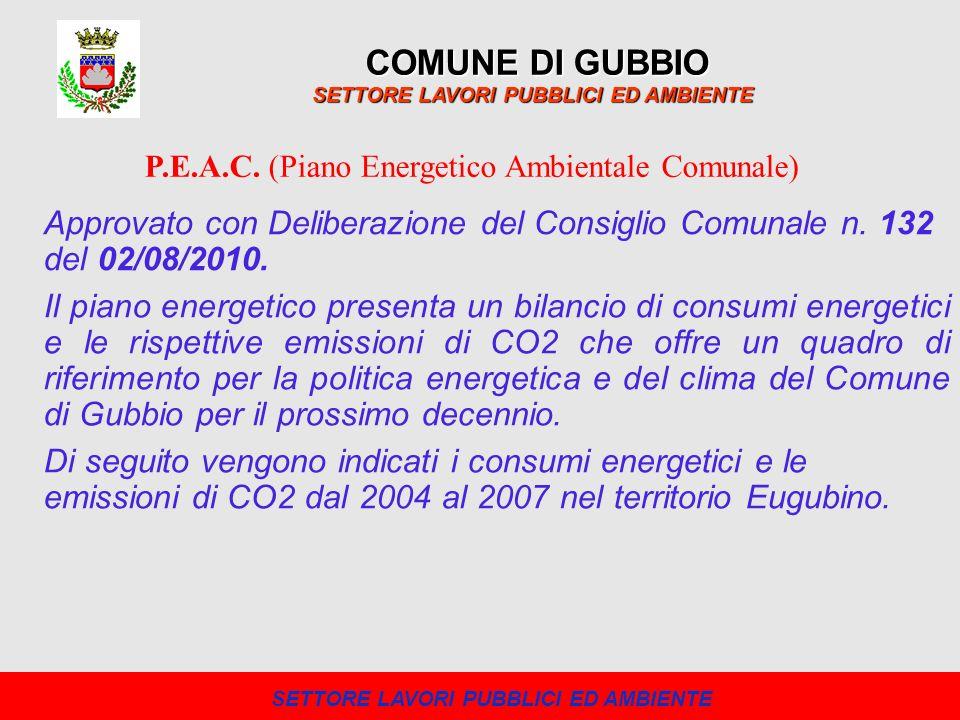 Il piano energetico presenta un bilancio di consumi energetici e le rispettive emissioni di CO2 che offre un quadro di riferimento per la politica ene