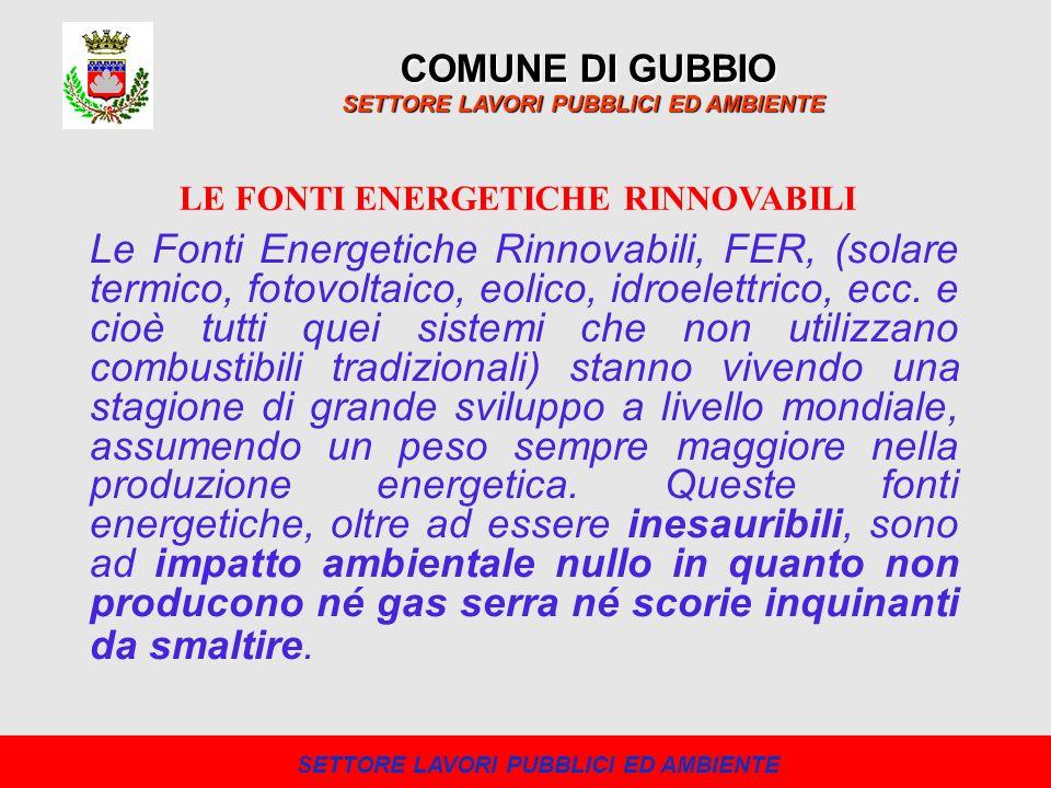 COMUNE DI GUBBIO SETTORE LAVORI PUBBLICI ED AMBIENTE P.R.I.C.